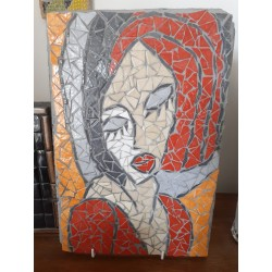 """Tableau mosaïque """"La Dame..."""