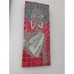 Tableau mosaïque sur bois:...